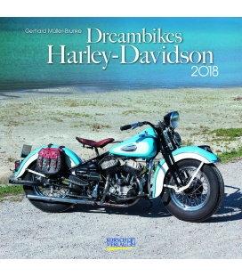Nástěnný kalendář Motorky snů / Dreambikes (BK) 2018