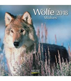 Nástěnný kalendář Vlci / Wölfe (BK) 2018