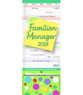 Wandkalender Familien Manager 19 x 47 2018