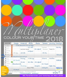 Wandkalender Multiplaner - Colour your time 2018