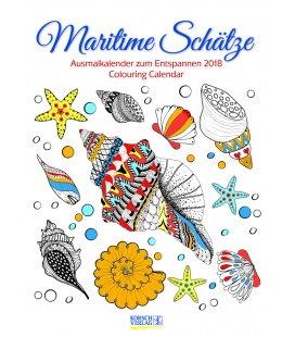 Nástěnný kalendář Omalovánkový kalendář / Ausmalkalender Maritime Schätze 2018