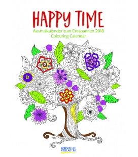 Nástěnný kalendář Omalovánkový kalendář / Ausmalkalender Happy Time 2018
