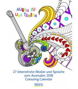 Nástěnný kalendář Omalovánkový kalendář / Ausmalkalender Colourful Words 2018