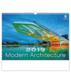 Nástěnný kalendář Modern Architecture 2019