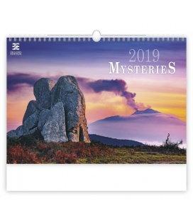Nástěnný kalendář Mysteries 2019