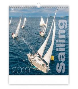 Nástěnný kalendář Sailing 2019