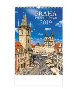 Nástěnný kalendář Praha/Prague/Prag 2019