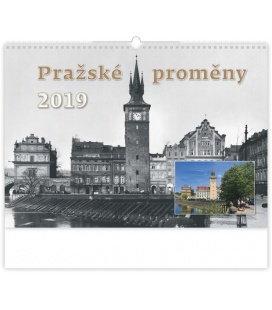 Nástěnný kalendář Pražské proměny 2019