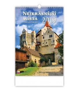 Nástěnný kalendář Nejkrásnější místa ČR 2019