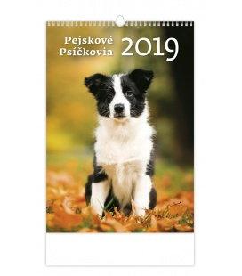 Nástěnný kalendář Pejskové/Psíčkovia 2019