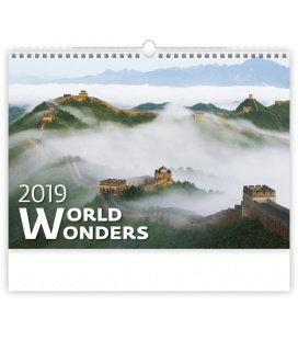 Wandkalender World Wonders 2019