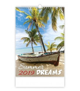 Nástěnný kalendář Summer Dreams 2019
