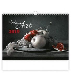 Nástěnný kalendář Colour Art 2019