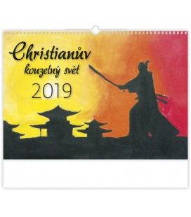 Nástěnný kalendář Christianův kouzelný svět 2019
