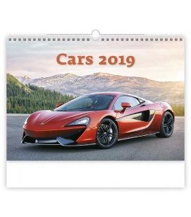 Nástěnný kalendář Cars 2019