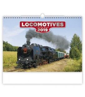 Nástěnný kalendář Locomotives 2019