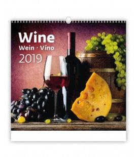 Nástěnný kalendář Wine/Wein/Víno 2019