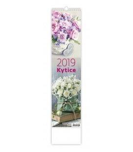Nástěnný kalendář Kytice - vázanka 2019