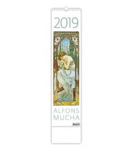 Nástěnný kalendář Alfons Mucha - vázanka 2019