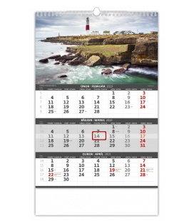 Nástěnný kalendář Pobřeží - 3měsíční/Pobrežie - 3mesačné 2019