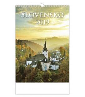Nástěnný kalendář Slovensko 2019