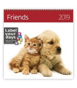 Nástěnný kalendář Friends 2019