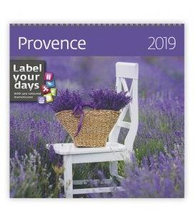 Nástěnný kalendář Provence 2019