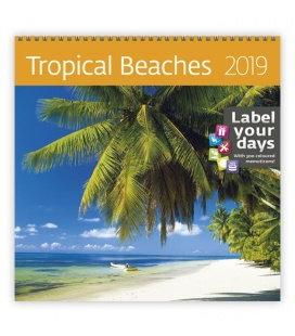 Wall calendar Tropical Beaches 2019