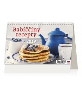 Stolní kalendář Babiččiny recepty 2019