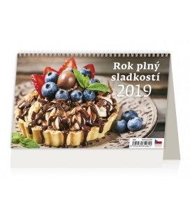 Stolní kalendář Rok plný sladkostí 2019