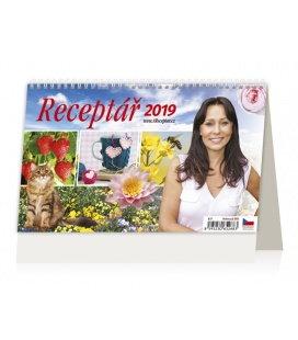 Stolní kalendář Receptář 2019