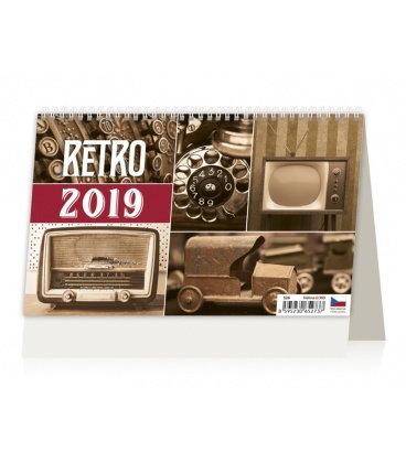 Stolní kalendář Retro 2019