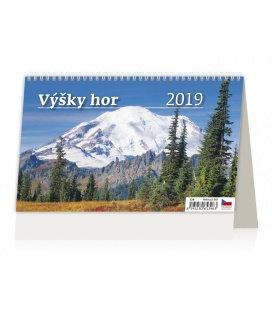 Stolní kalendář Výšky hor 2019