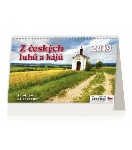 Stolní kalendář Z českých luhů a hájů 2019