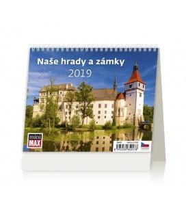 Stolní kalendář Minimax Naše hrady a zámky 2019