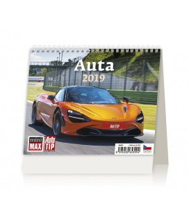 Stolní kalendář Minimax Auta 2019