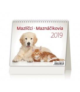 Stolní kalendář MiniMax Mazlíčci/Maznáčikovia 2019