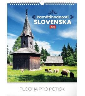 Nástěnný kalendář Pamätihodnosti Slovenska SK 2019
