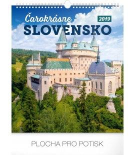 Nástěnný kalendář Čarokrásne Slovensko SK 2019