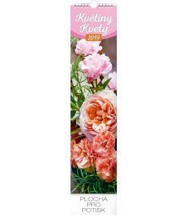 Nástěnný kalendář Květiny – Kvety - vázanka 2019