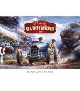 Nástěnný kalendář Oldtimers – Václav Zapadlík 2019