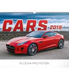 Nástěnný kalendář Auta 2019