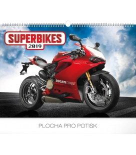 Nástěnný kalendář Superbikes 2019
