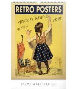 Nástěnný kalendář Retro plakáty 2019