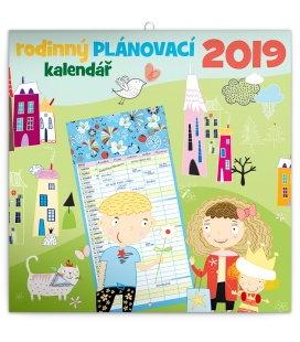 Nástěnný kalendá Rodinný plánovací kalendář 2019