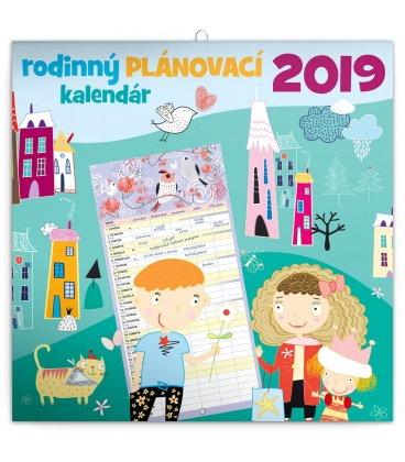Nástěnný kalendá Rodinný plánovací kalendář SK 2019