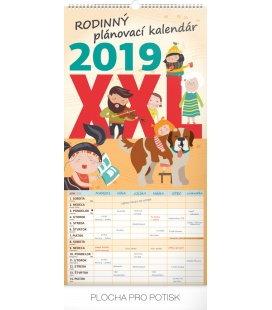 Nástěnný kalendář Rodinný plánovací XXL SK 2019
