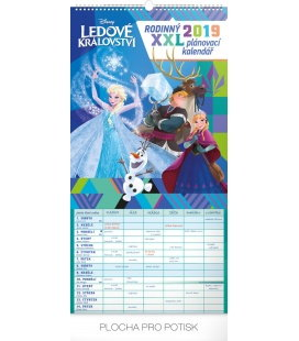 Nástěnný kalendář Rodinný plánovací XXL – Ledové království 2019