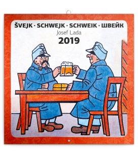 Nástěnný kalendář Švejk – Josef Lada 2019