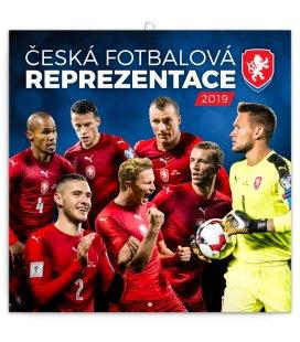 Nástěnný kalendář Česká fotbalová reprezentace (ilustrativní foto) 2019